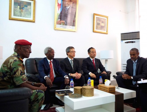 Official visit of the Japanese Parliamentary Vice Minister of Defense in Djibouti