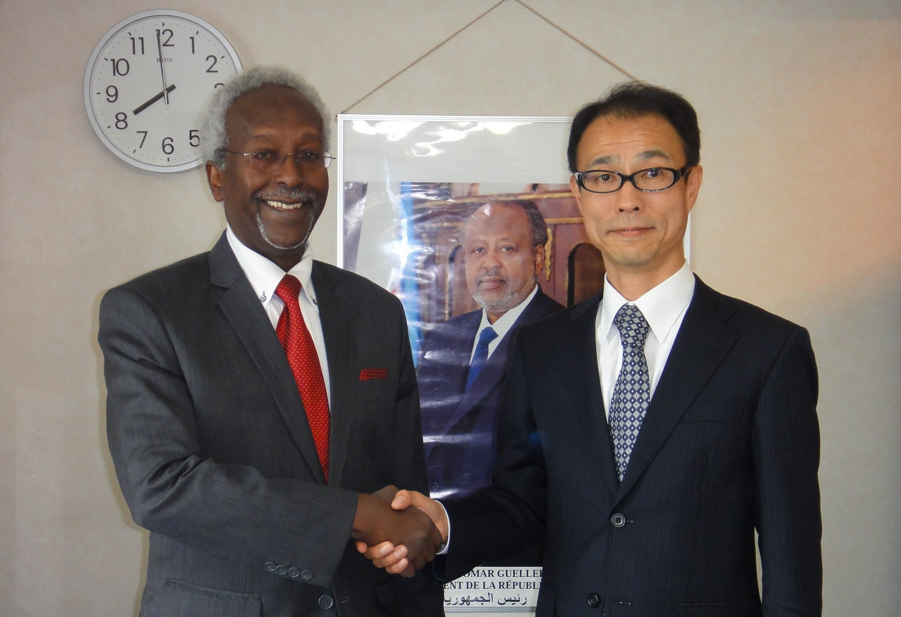 Courtesy visit of the new Japanese Ambassador to Djibouti with H.E. Mr. Ahmed Araita Ali
