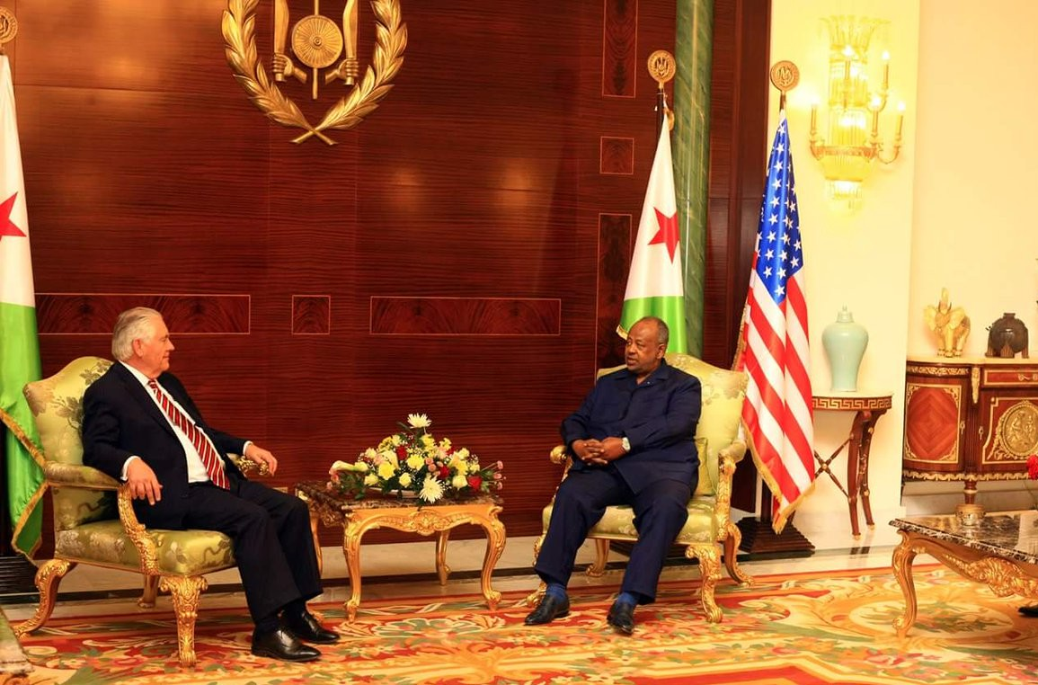 Courtesy visit of the American Secretary of State to Djibouti