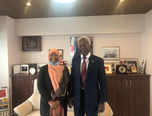 "The Ambassador receives a Djiboutian student from the ""Abe initiative"" scholarship program 2018-2020."